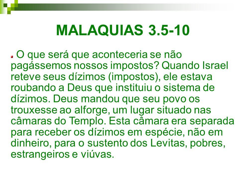 MALAQUIAS 3.5-10