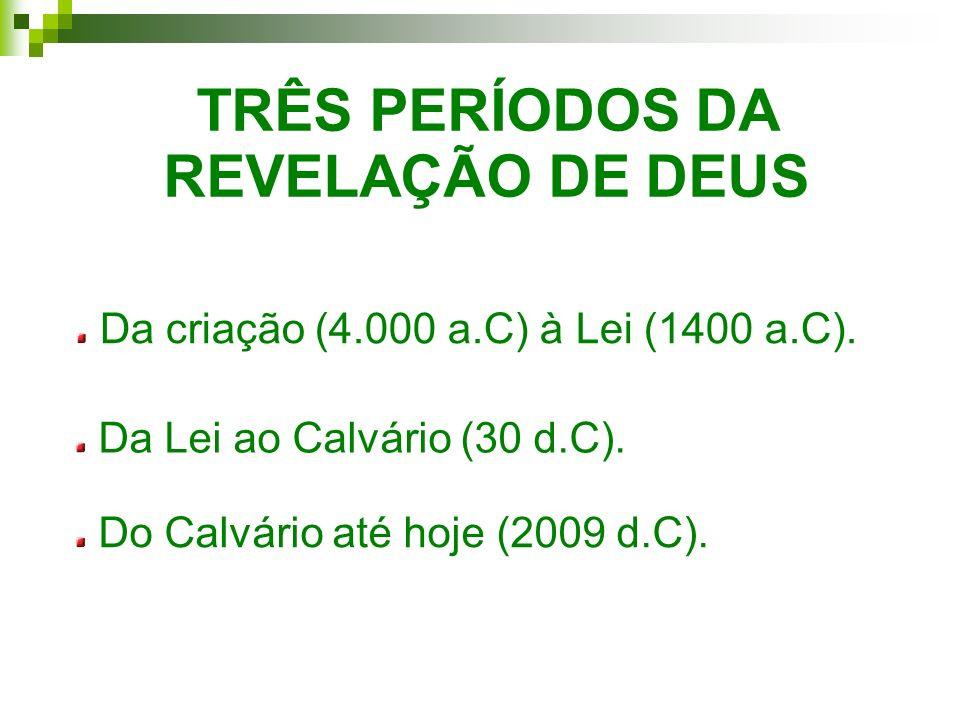 TRÊS PERÍODOS DA REVELAÇÃO DE DEUS