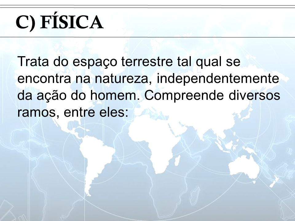 IntroduçãoC) FÍSICA.