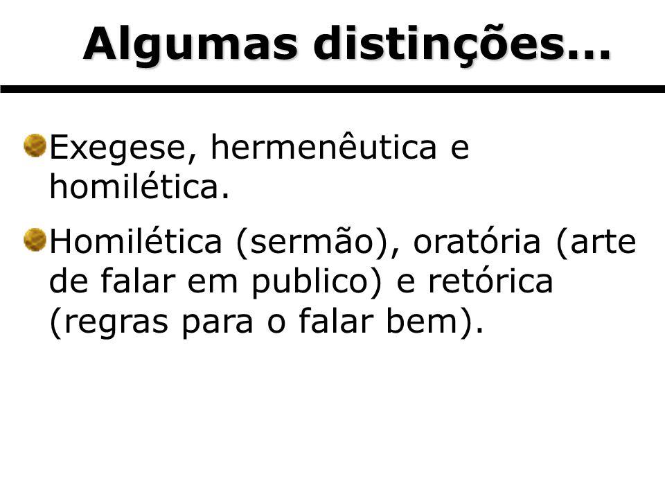 Algumas distinções... Exegese, hermenêutica e homilética.