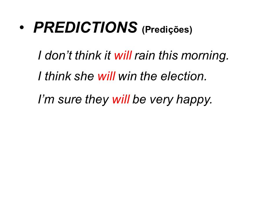 PREDICTIONS (Predições)