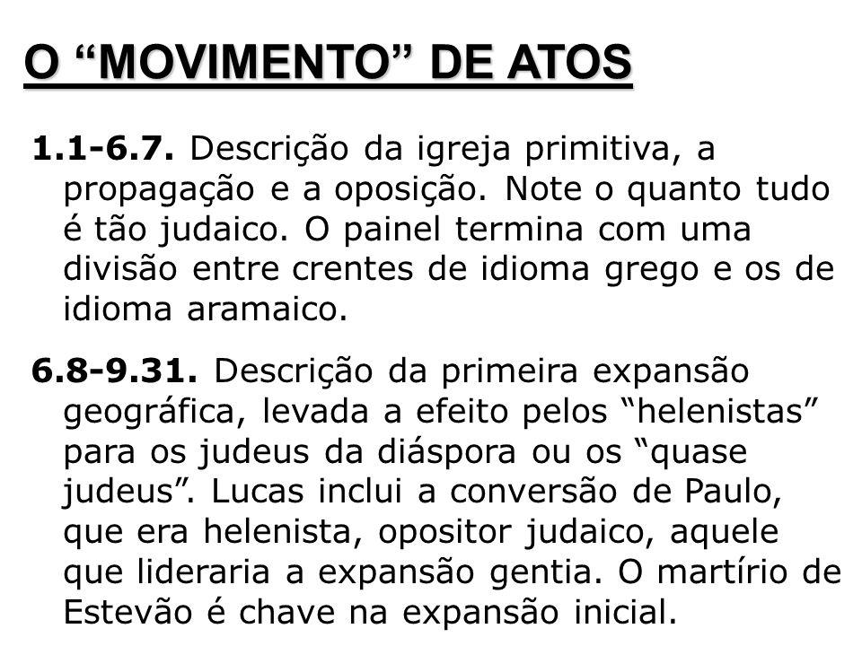 O MOVIMENTO DE ATOS