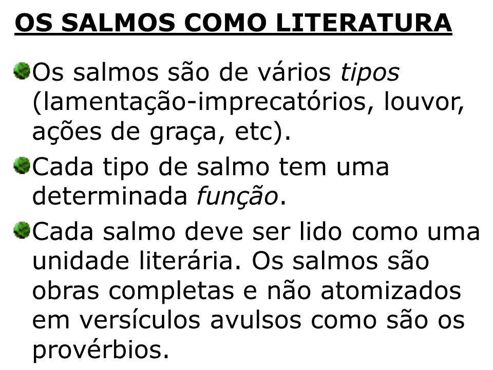 OS SALMOS COMO LITERATURA