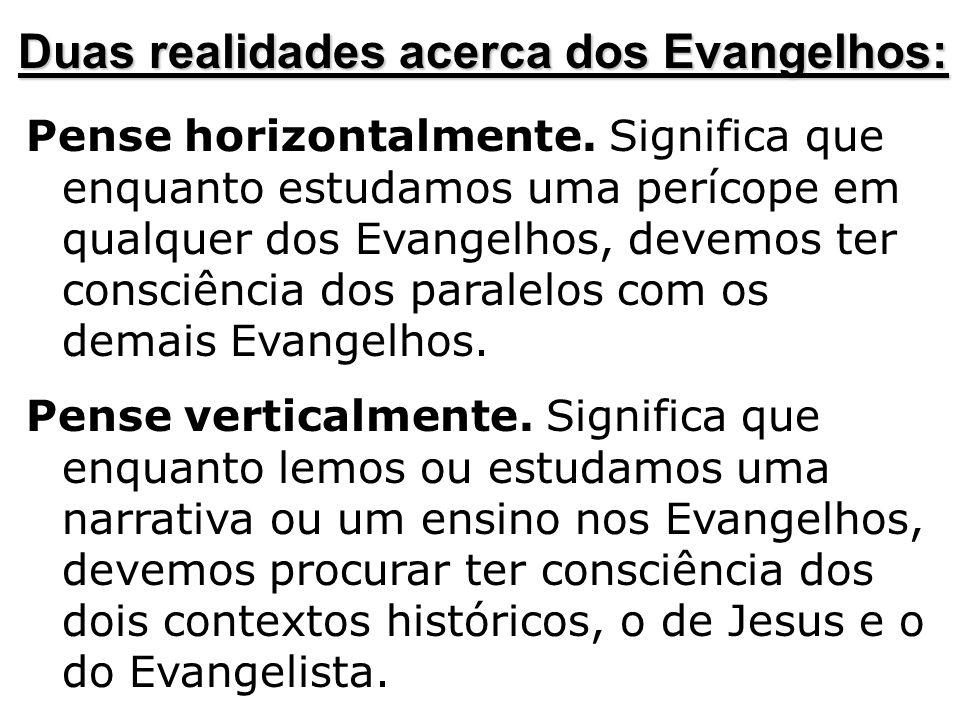 Duas realidades acerca dos Evangelhos: