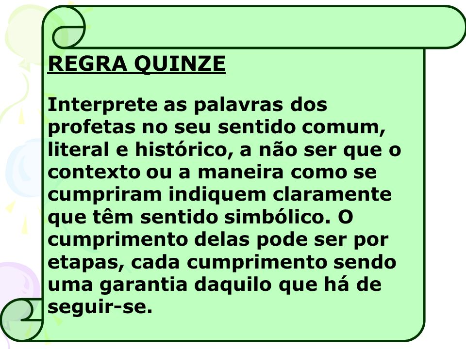 REGRA QUINZE