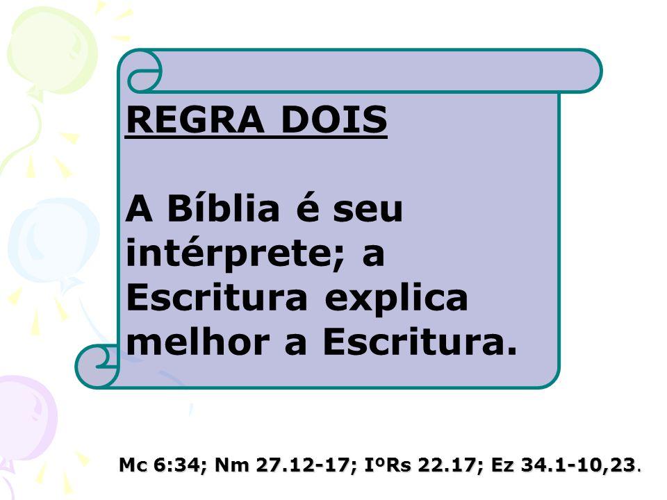 A Bíblia é seu intérprete; a Escritura explica melhor a Escritura.