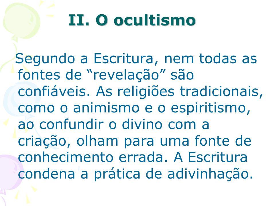 II. O ocultismo