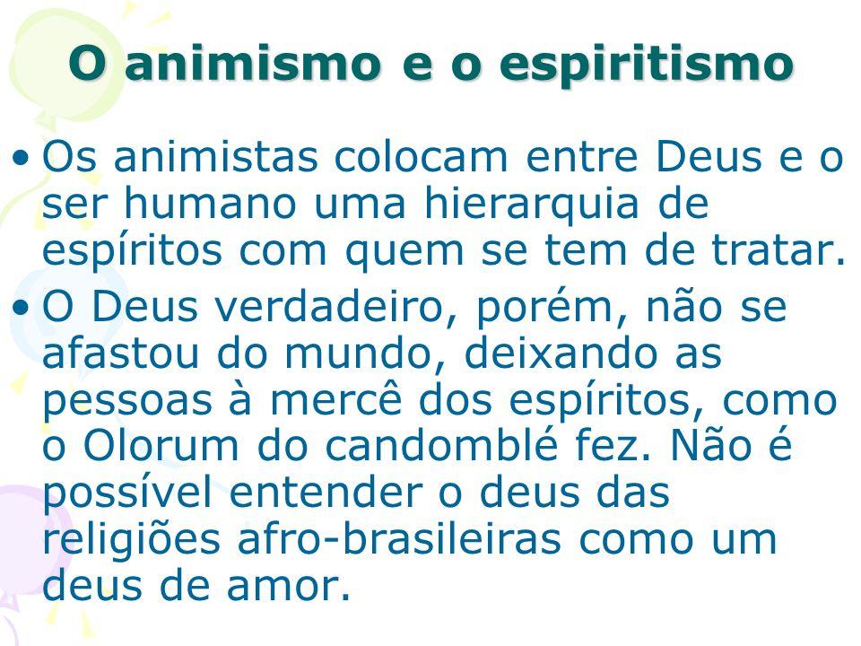O animismo e o espiritismo