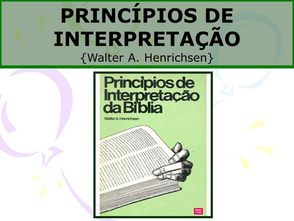 PRINCÍPIOS DE INTERPRETAÇÃO
