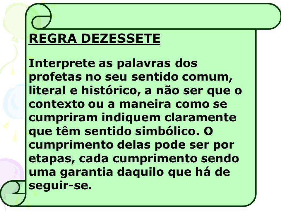 REGRA DEZESSETE