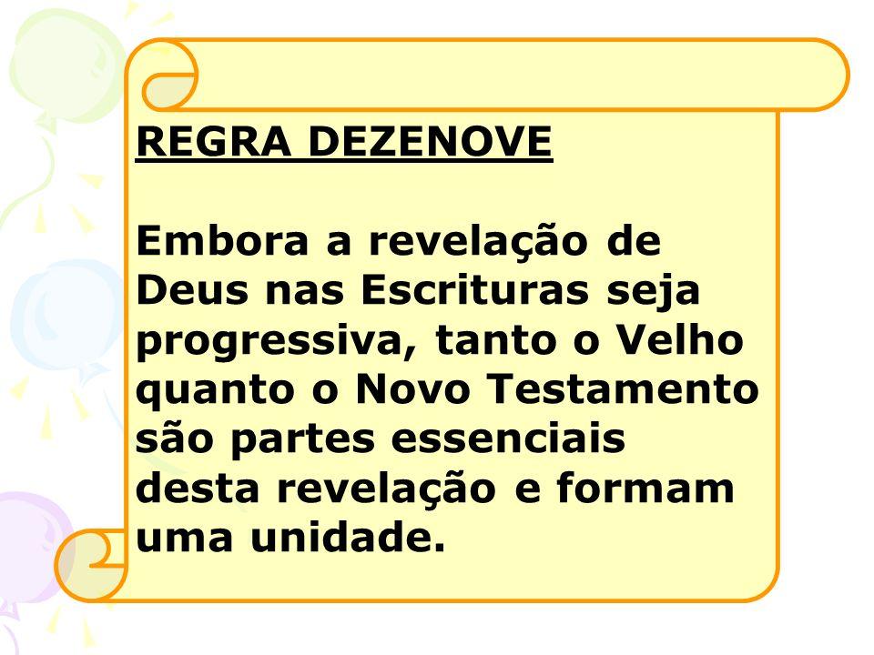 REGRA DEZENOVE