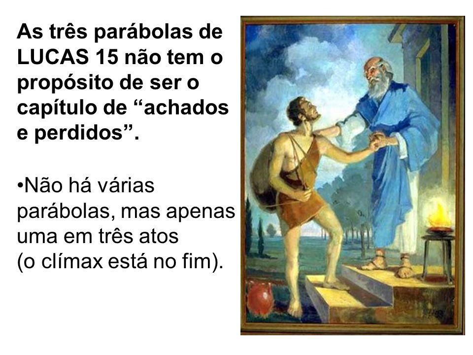 As três parábolas de LUCAS 15 não tem o propósito de ser o capítulo de achados e perdidos .