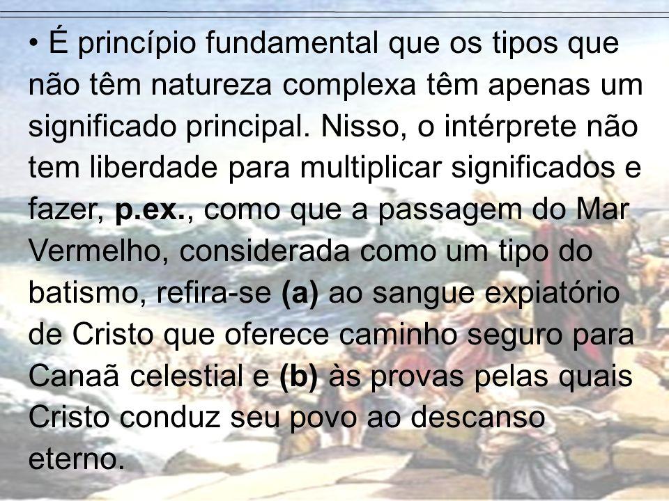 É princípio fundamental que os tipos que não têm natureza complexa têm apenas um significado principal.