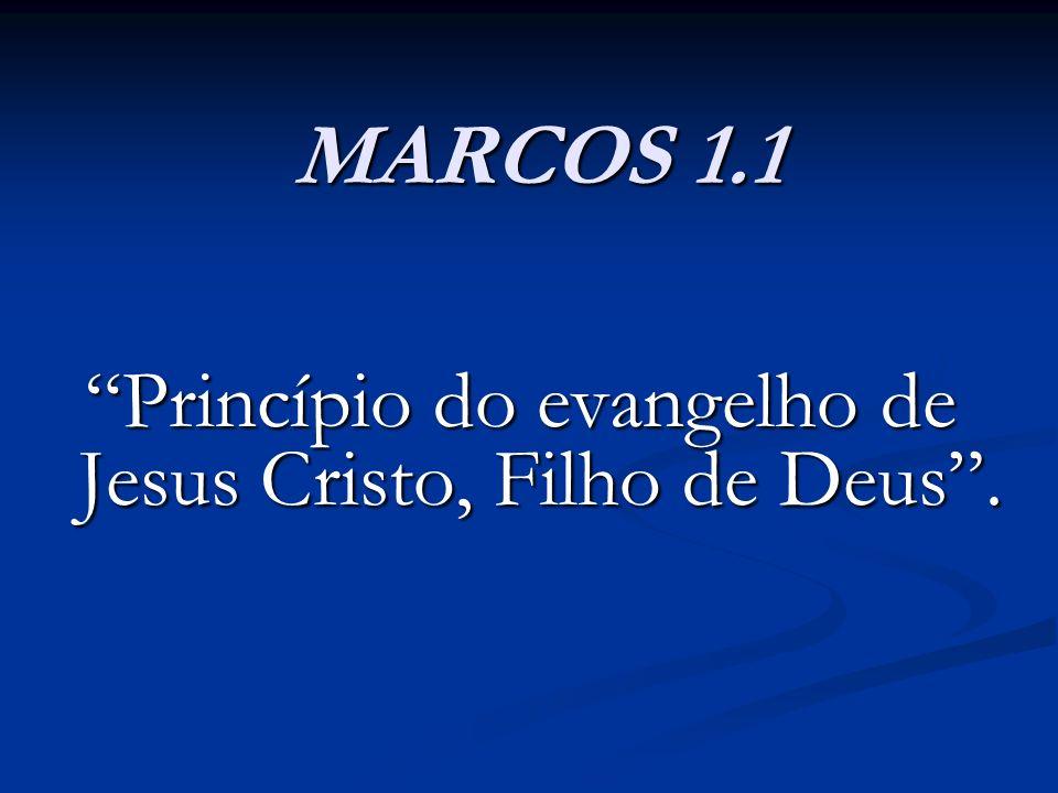 Princípio do evangelho de Jesus Cristo, Filho de Deus .