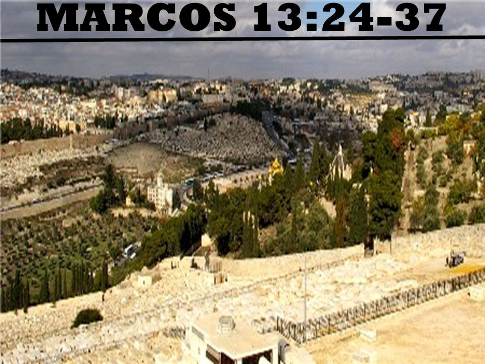 MARCOS 13:24-37