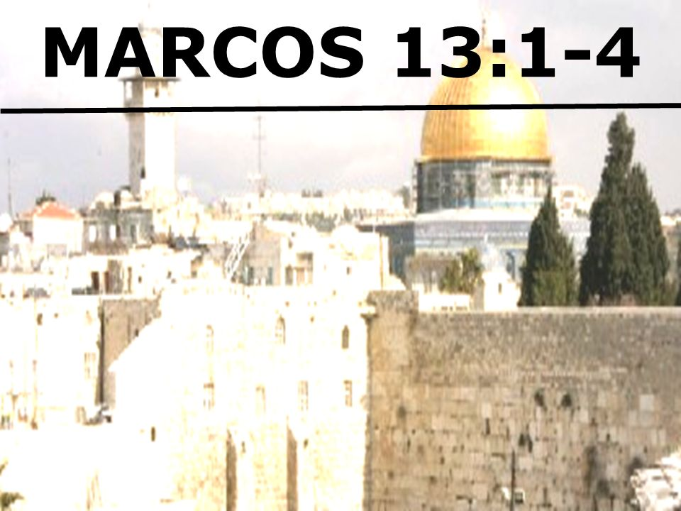 MARCOS 13:1-4