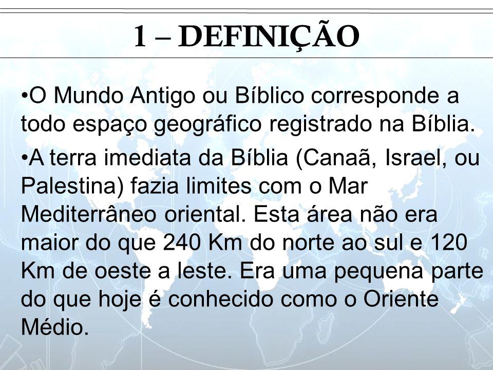 Introdução1 – DEFINIÇÃO. O Mundo Antigo ou Bíblico corresponde a todo espaço geográfico registrado na Bíblia.