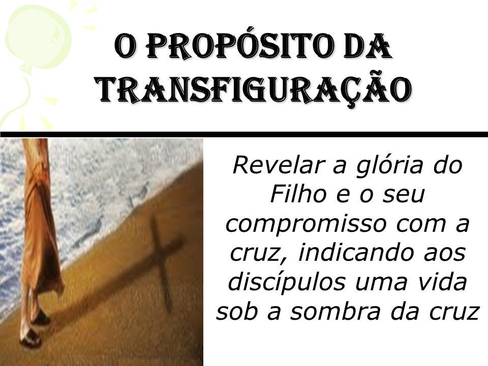 o Propósito da transfiguração