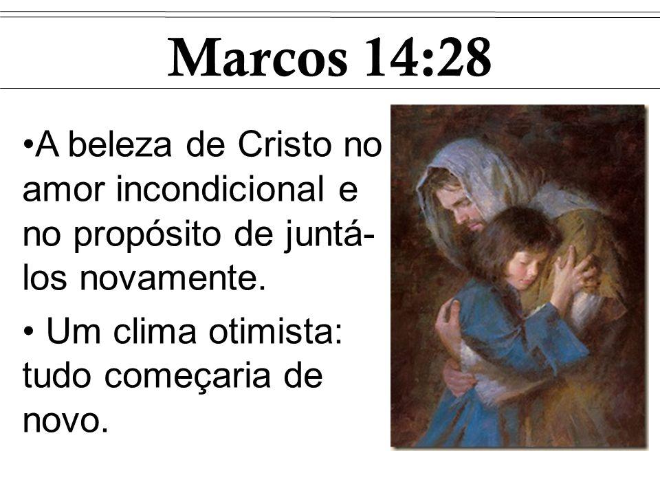 Marcos 14:28 A beleza de Cristo no amor incondicional e no propósito de juntá-los novamente.