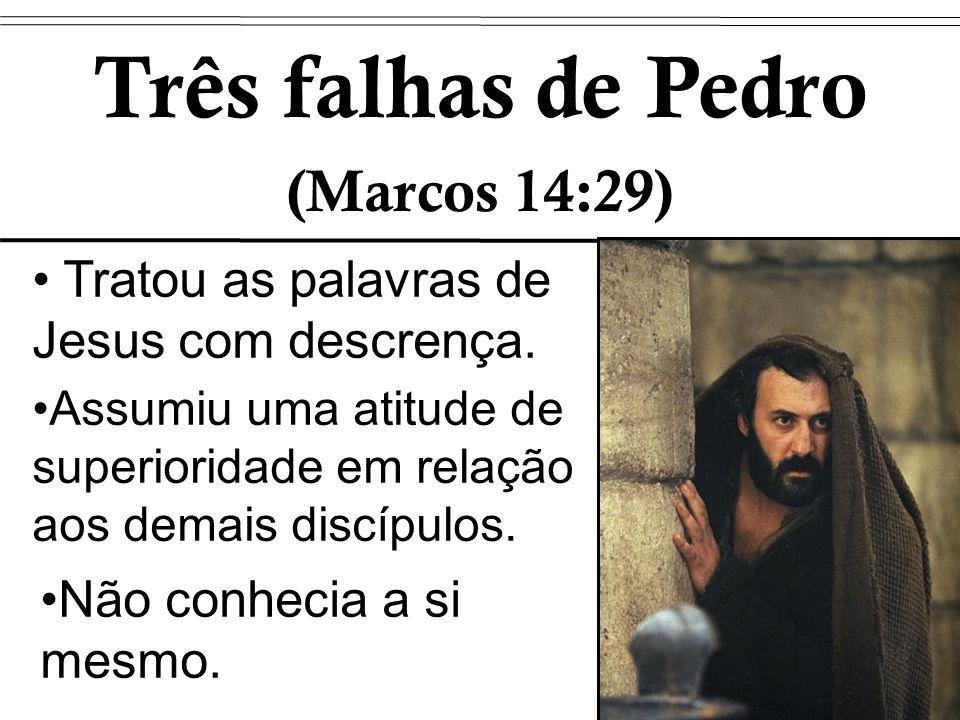 Três falhas de Pedro (Marcos 14:29)
