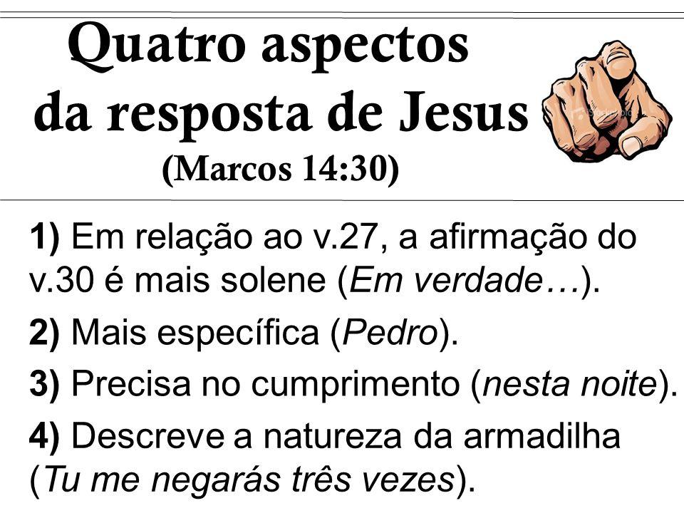 Quatro aspectos da resposta de Jesus (Marcos 14:30)