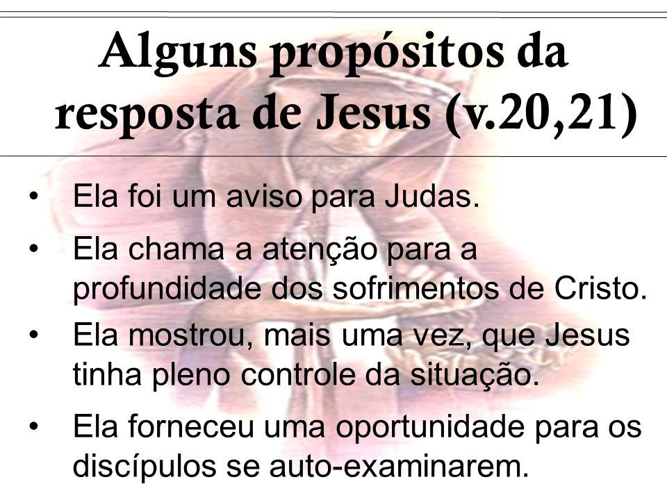 Alguns propósitos da resposta de Jesus (v.20,21)