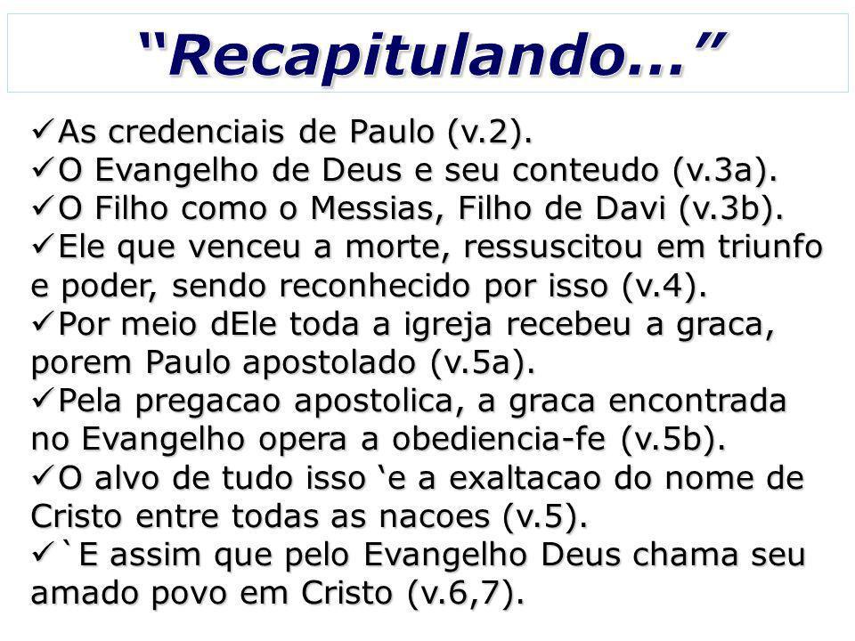Recapitulando... As credenciais de Paulo (v.2).
