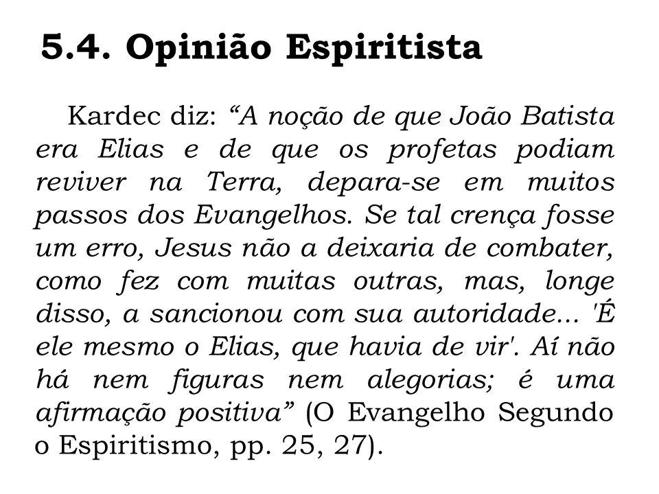 5.4. Opinião Espiritista