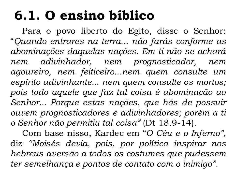 6.1. O ensino bíblico