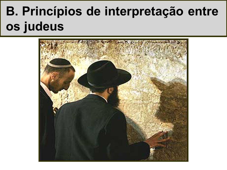 B. Princípios de interpretação entre os judeus