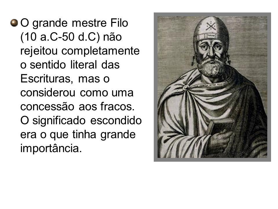 O grande mestre Filo (10 a. C-50 d