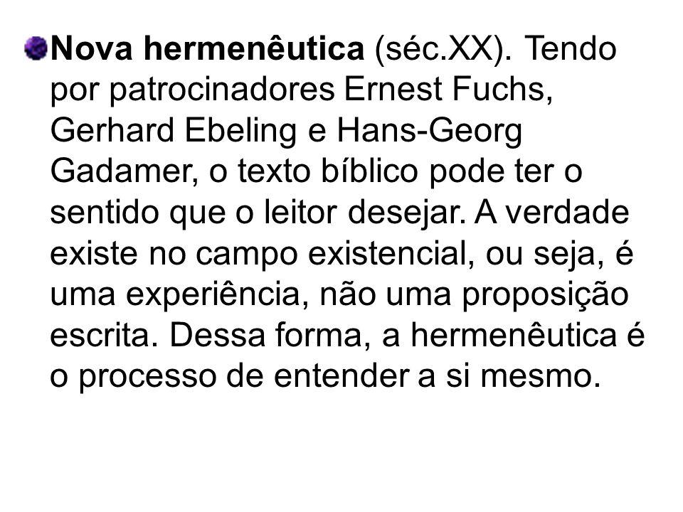 Nova hermenêutica (séc. XX)