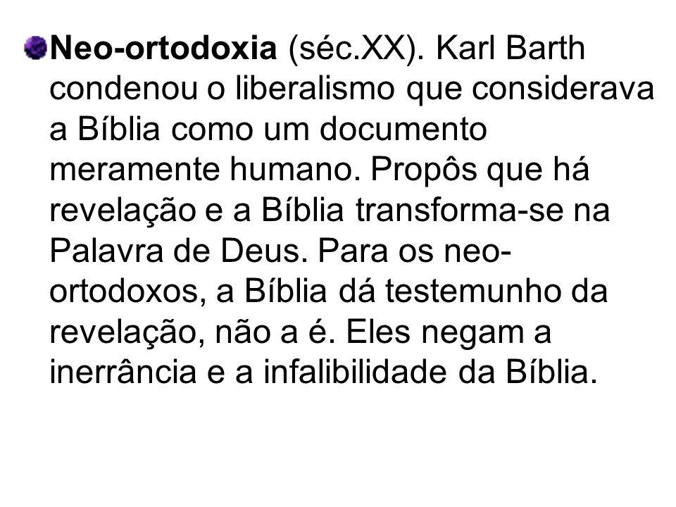 Neo-ortodoxia (séc. XX)