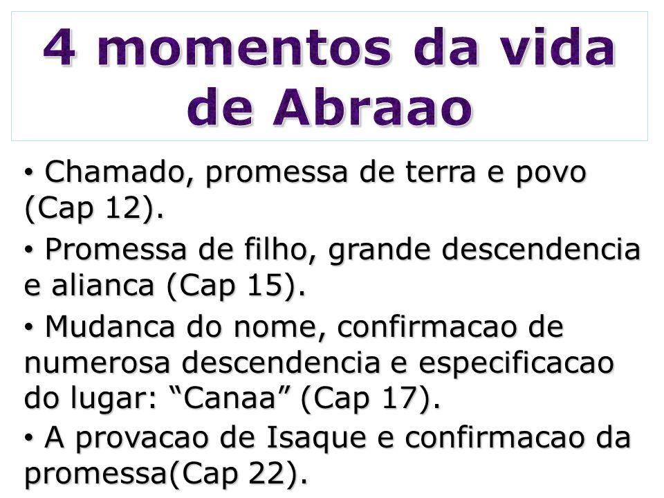 4 momentos da vida de Abraao