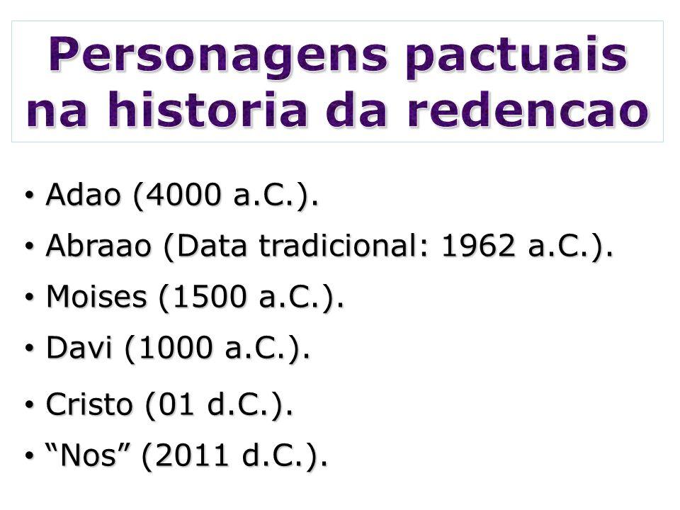 Personagens pactuais na historia da redencao