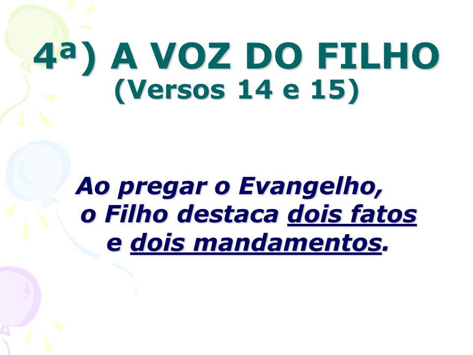 4ª) A VOZ DO FILHO (Versos 14 e 15)