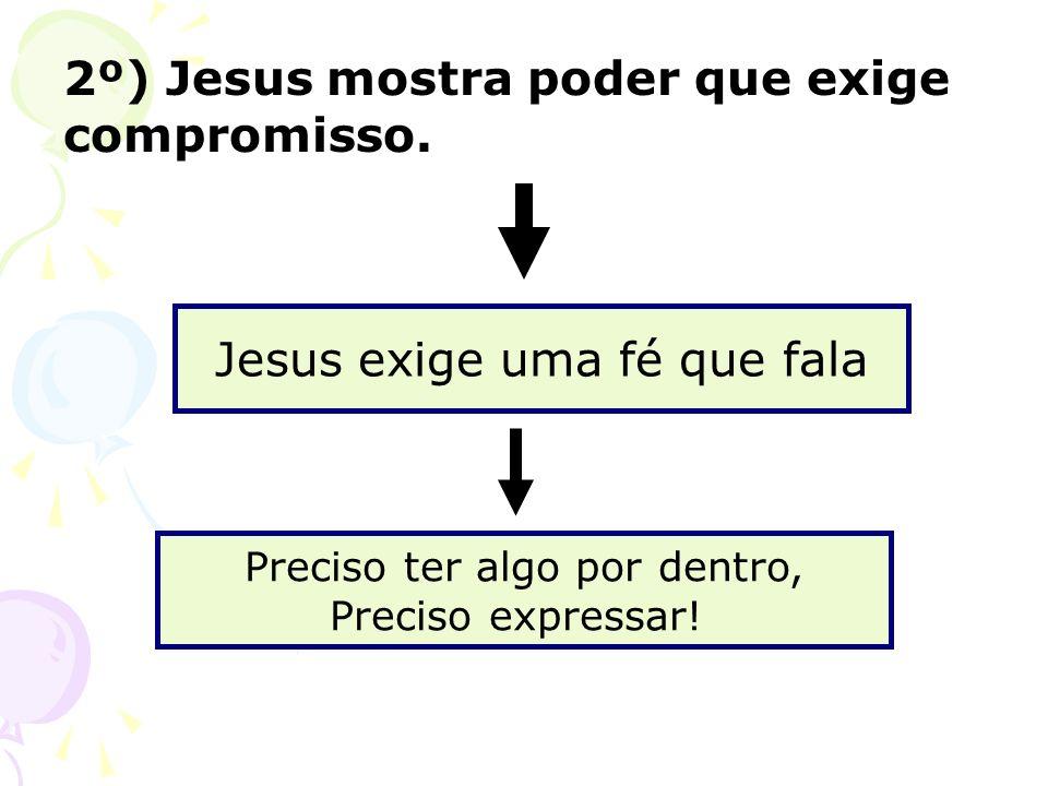 2º) Jesus mostra poder que exige compromisso.