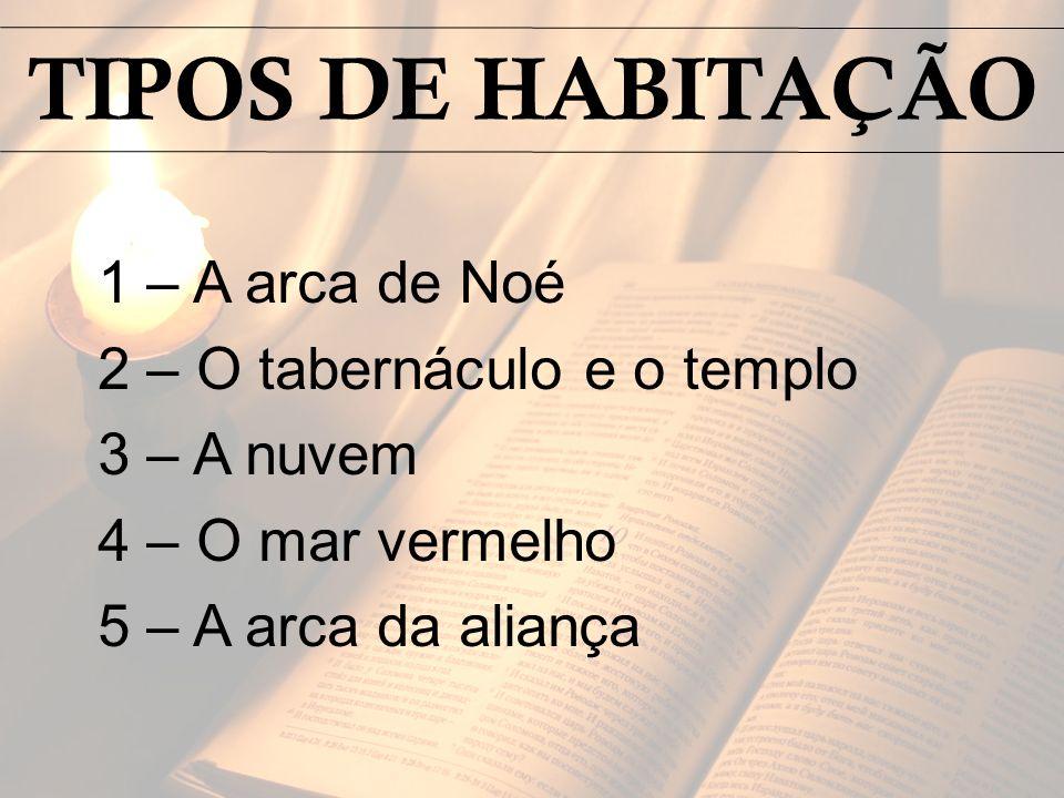TIPOS DE HABITAÇÃO 1 – A arca de Noé 2 – O tabernáculo e o templo