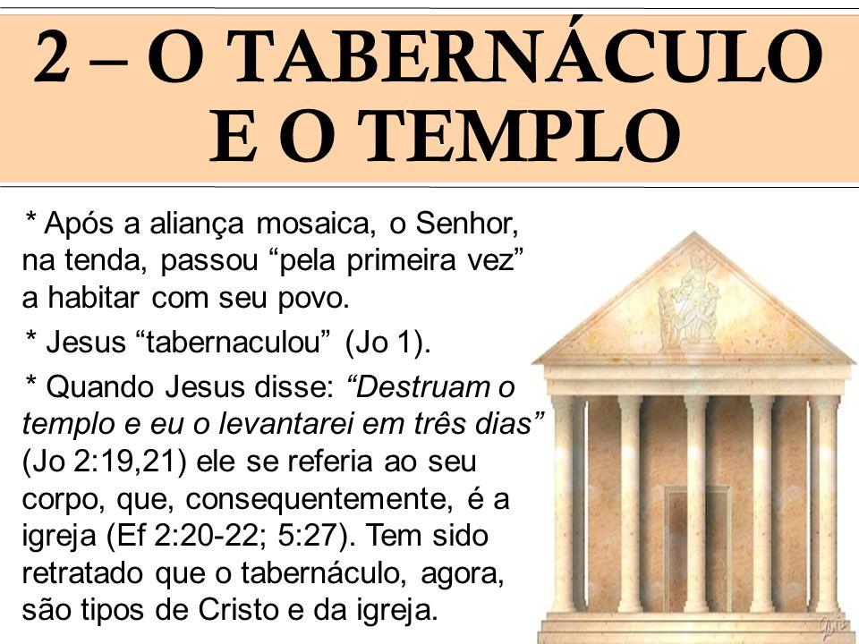 2 – O TABERNÁCULO E O TEMPLO