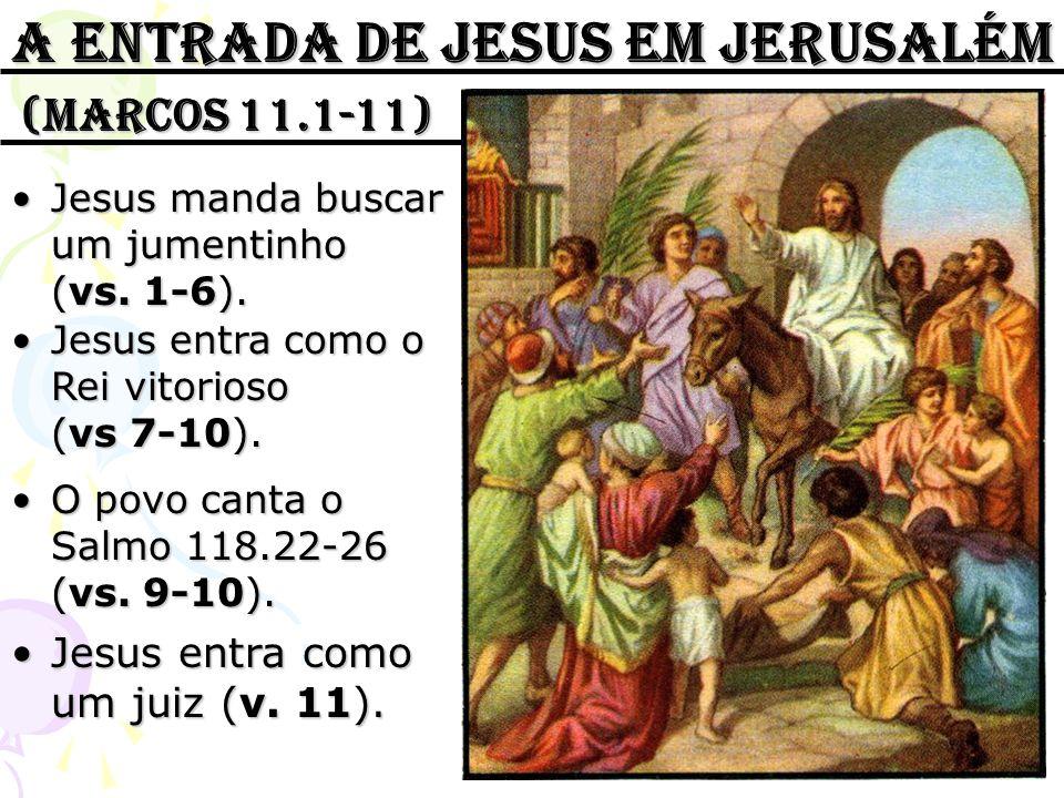 A entrada de jesus em jerusalém