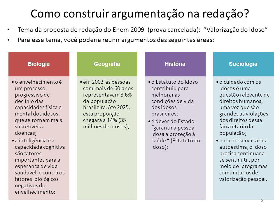 Como construir argumentação na redação
