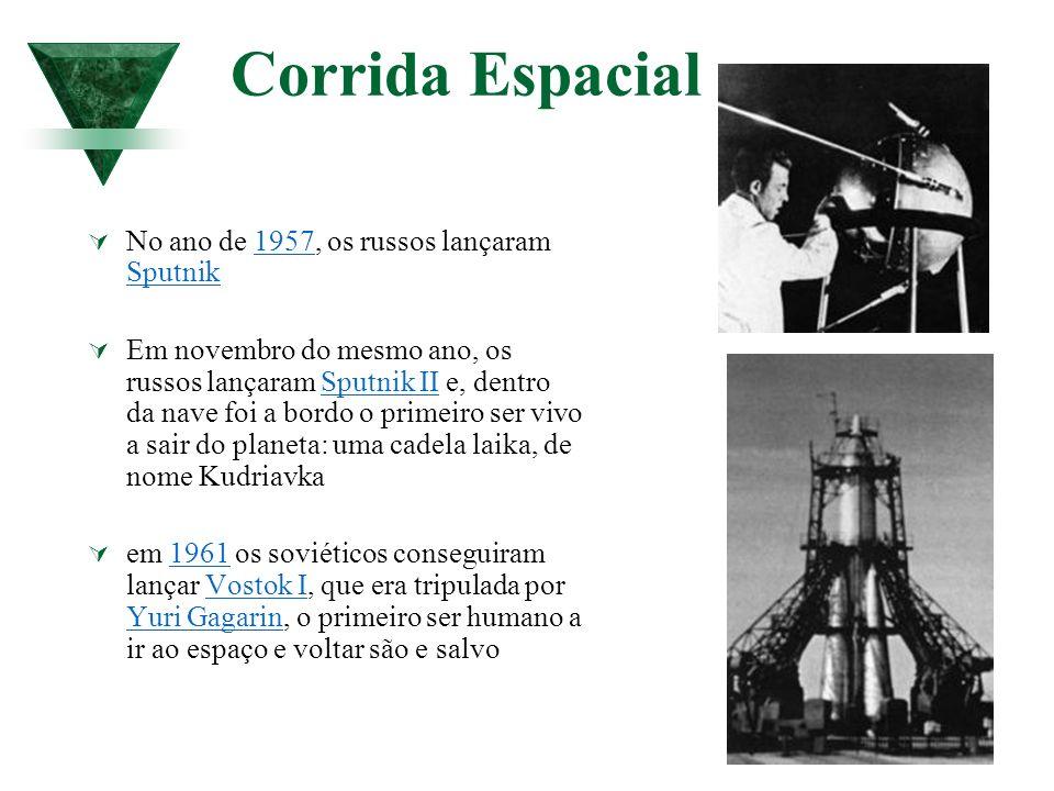 Corrida Espacial No ano de 1957, os russos lançaram Sputnik