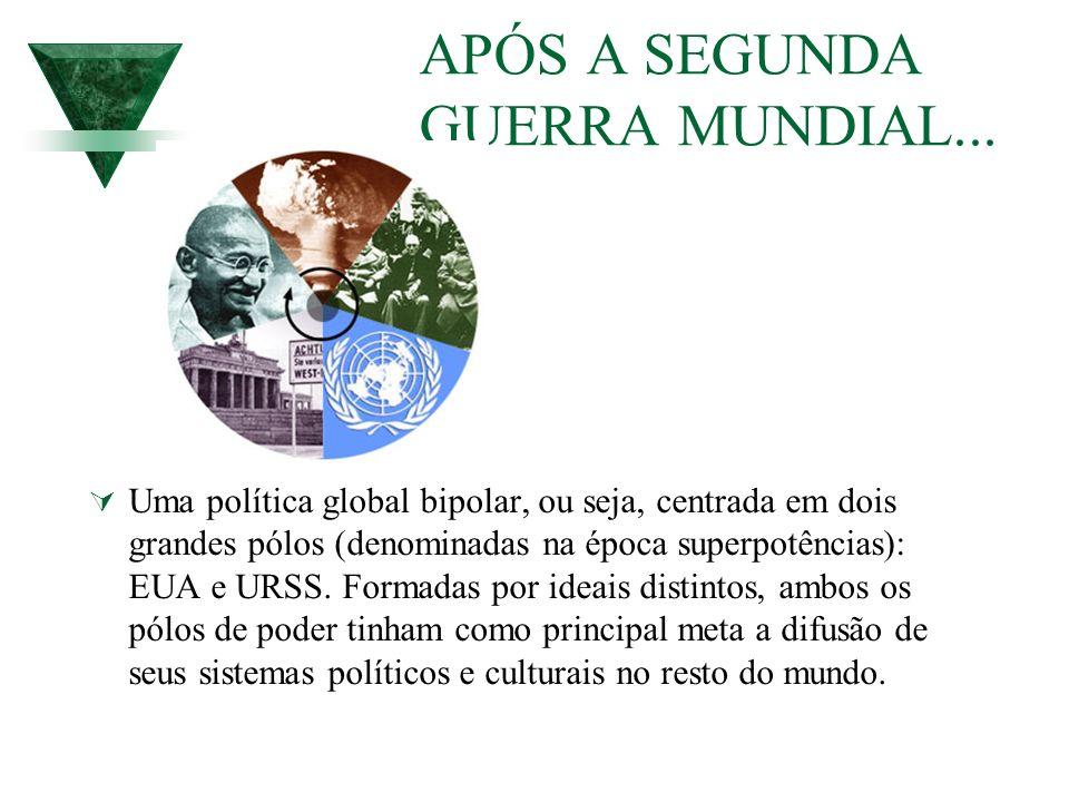 APÓS A SEGUNDA GUERRA MUNDIAL...