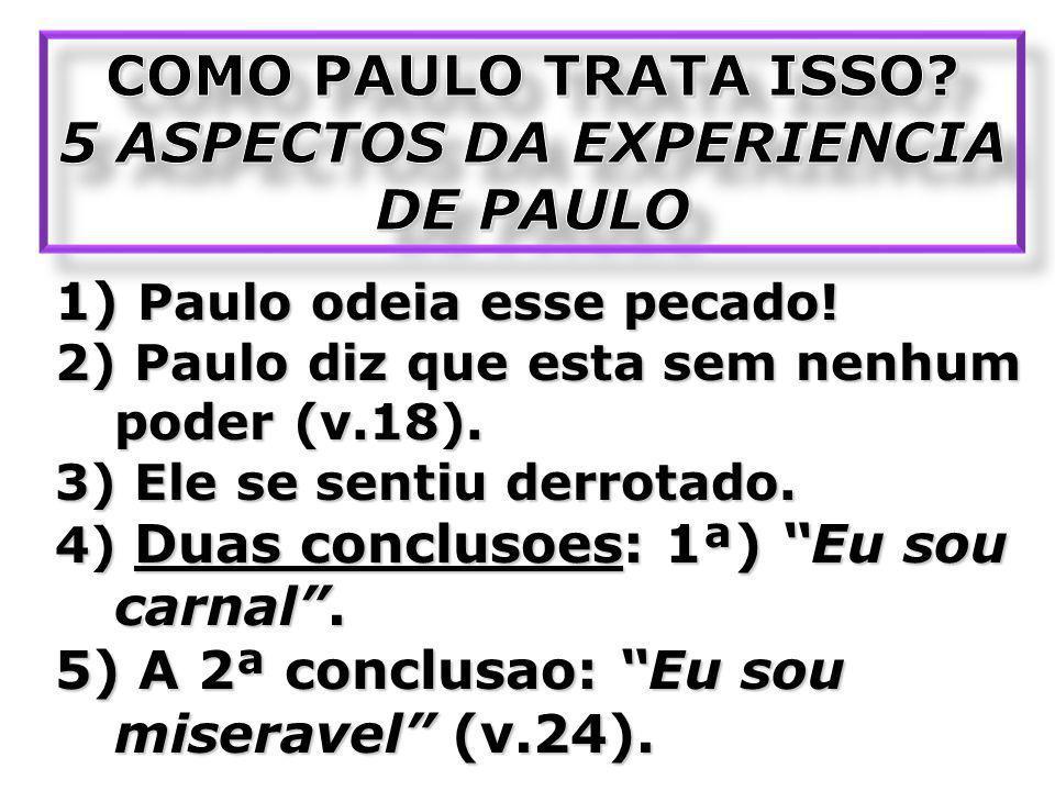 5 ASPECTOS DA EXPERIENCIA DE PAULO