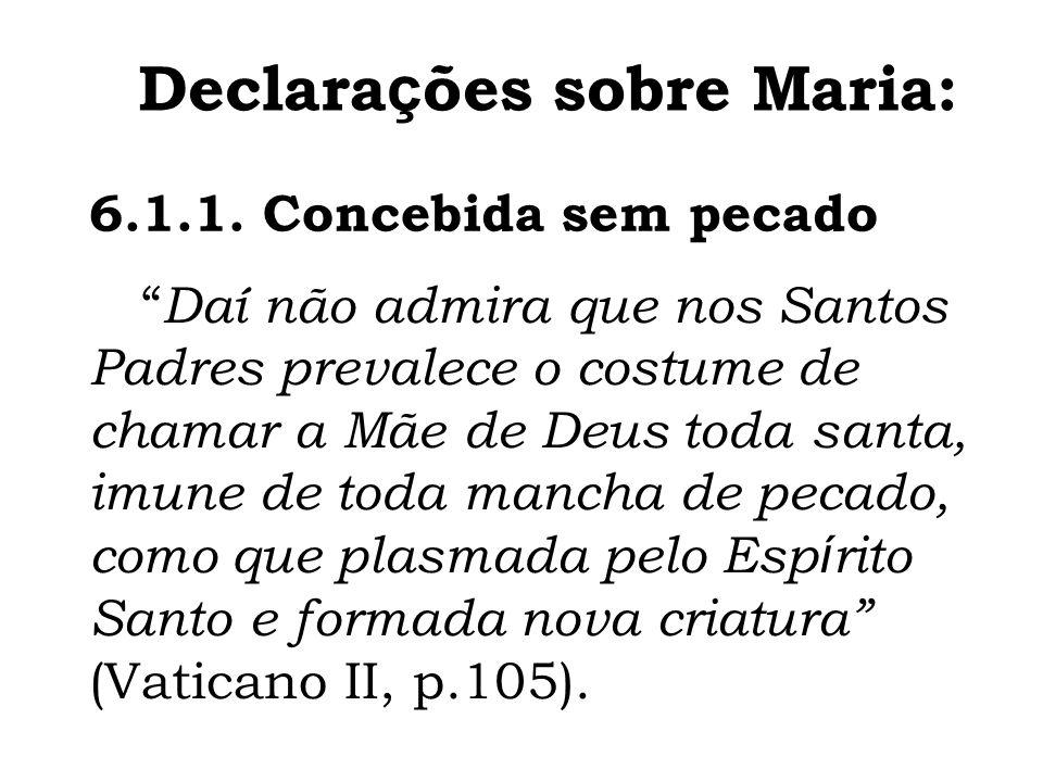 Declarações sobre Maria: