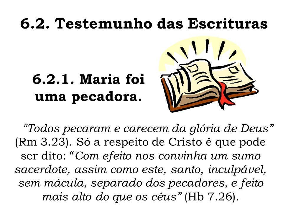 6.2. Testemunho das Escrituras