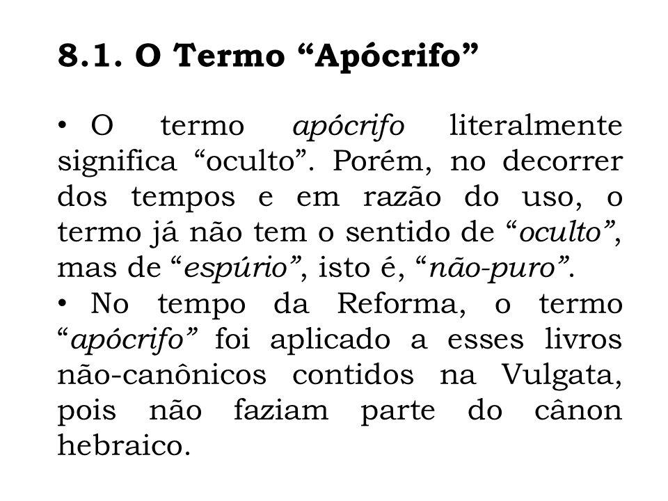 8.1. O Termo Apócrifo