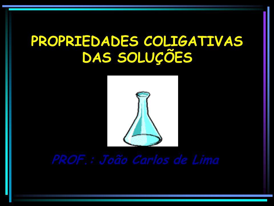 PROPRIEDADES COLIGATIVAS DAS SOLUÇÕES