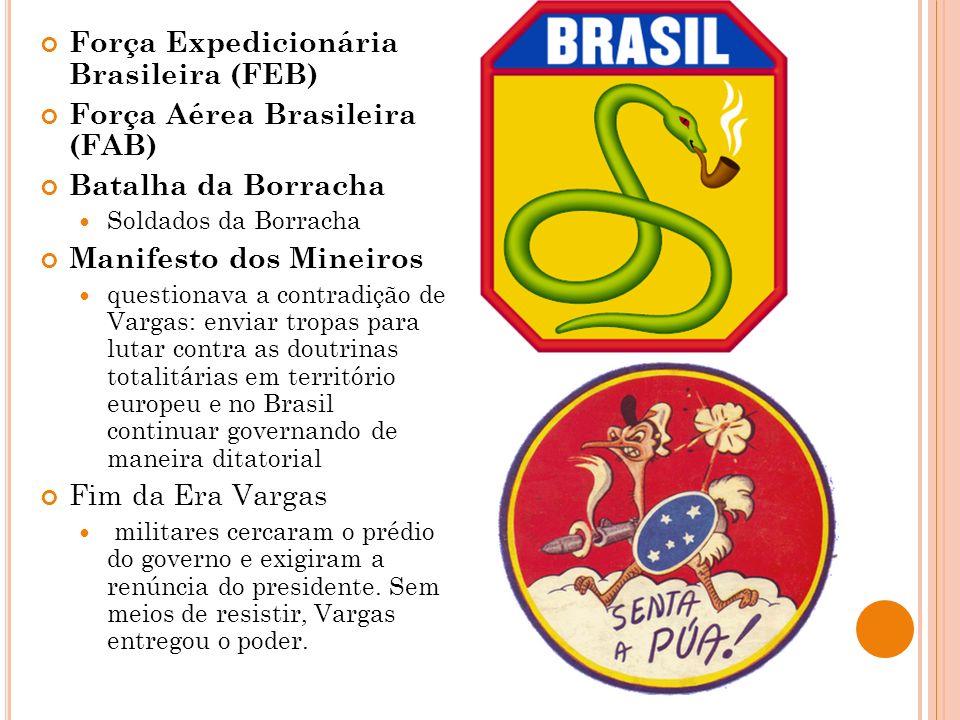 Força Expedicionária Brasileira (FEB) Força Aérea Brasileira (FAB)