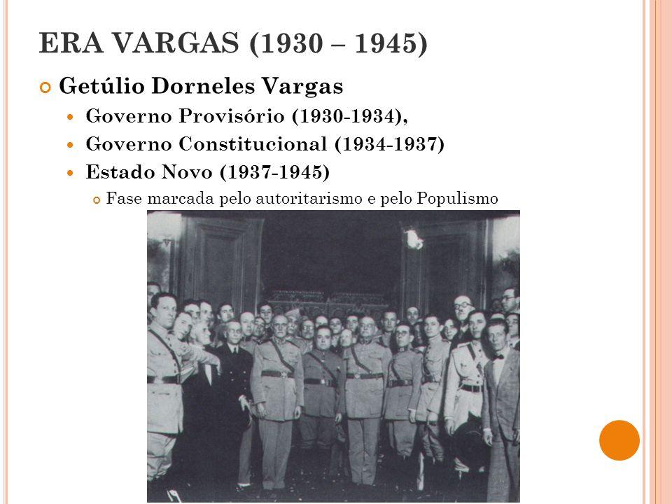 ERA VARGAS (1930 – 1945) Getúlio Dorneles Vargas